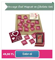 Anneye Özel Magnet ve Çikolata Seti