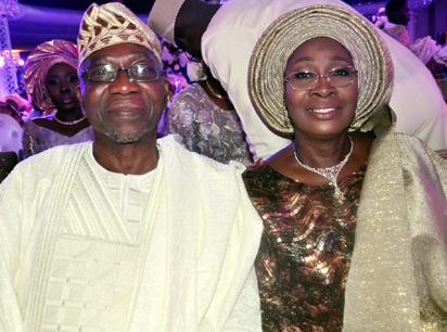 Omoba Adebola Olukoya, Groom's father and his Mrs. Olatokunbo, groom's mother