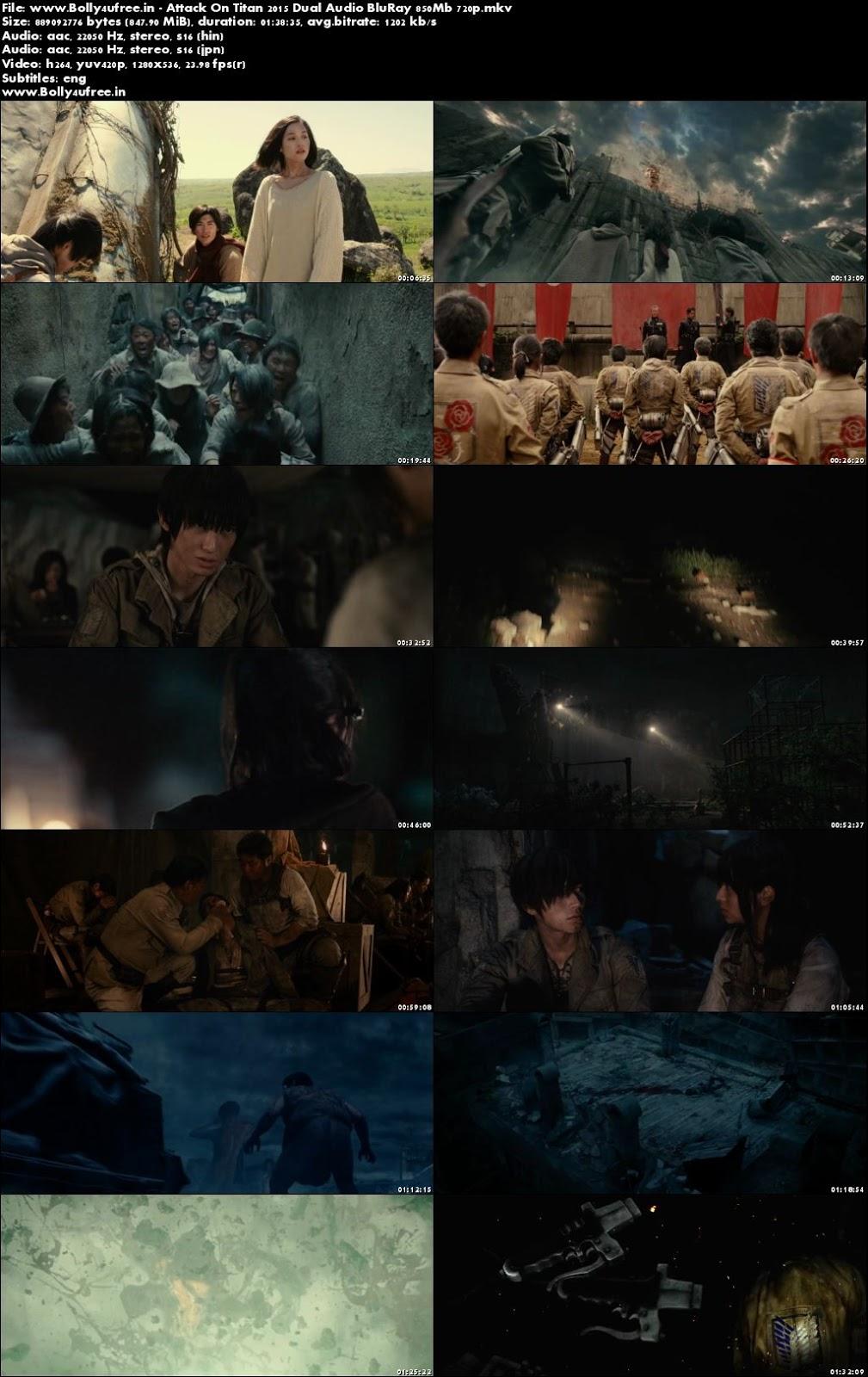 Attack On Titan 2015 Hindi Dual Audio BluRay 850Mb 720p