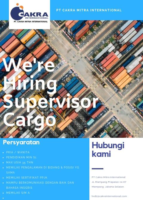 Lowongan Kerja Supervisor Cargo Pt Cakra Mitra border=