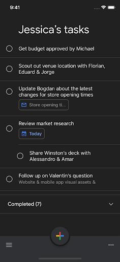 Dark Mode Available for Google Tasks on iOS 1