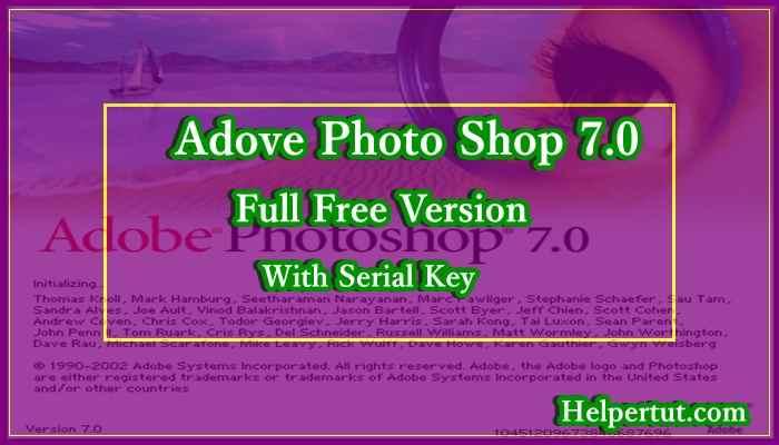 adove photoshop 7.0 full version