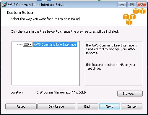 Aws cli setup linux