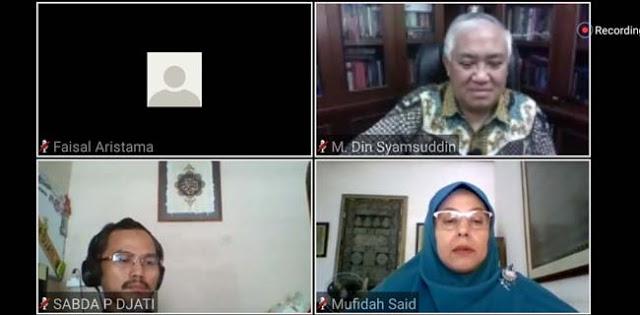 Tidak Patah Arang Gugat Undang-Undang Corona, Din Syamsuddin: Kita Sedang Berhadapan Dengan Kemungkaran Terorganisir