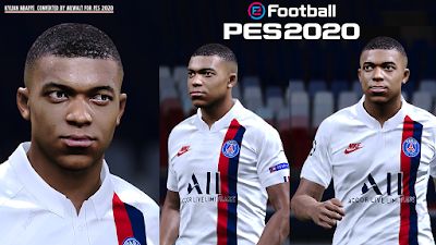 PES 2020 Faces Kylian Mbappé by Milwalt