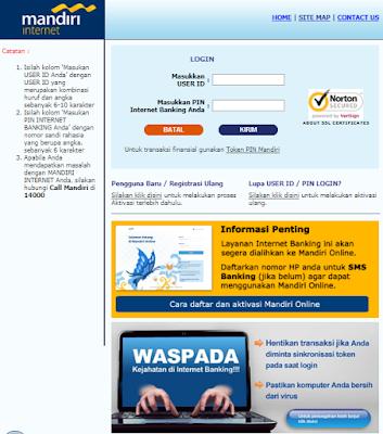mandiri online, mandiri internet, Token, MPIN, cs bank mandiri, SMS Banking
