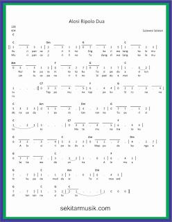 not angka alosi ripolo dua lagu daerah sulawesi selatan