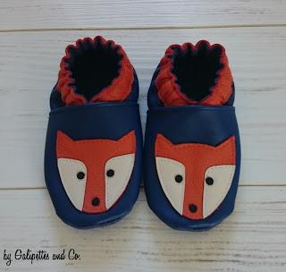 chausson en cuir renard pour enfant