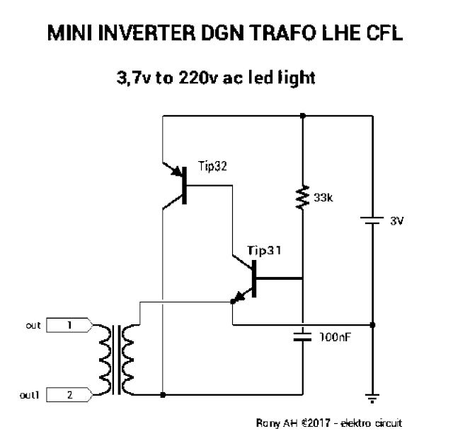 Membuat Inverter Dgn Trafo Lhe Cfl