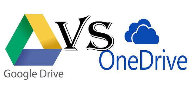 Googel drive VS OneDrive, mana yang baik