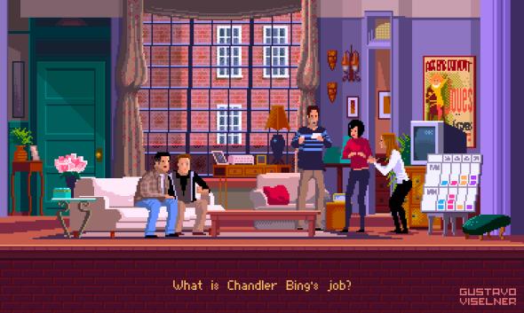 Gustavo Viselner ilustrações pixel art filmes tv referências Friends