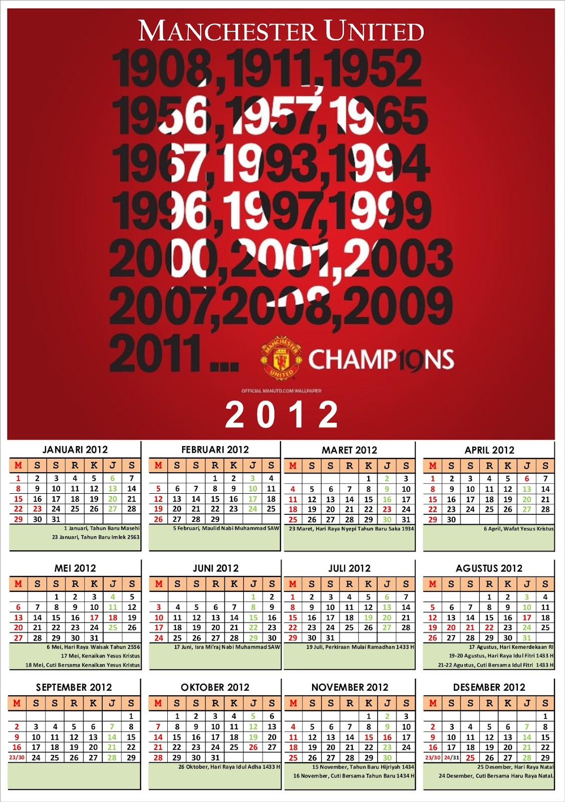 Kalender Tahun 1993 : kalender, tahun, Download, Kalender, Tahun, Manchester, United, Beserta, Libur, Indonesia, Format, Nur-akhwan.web.id