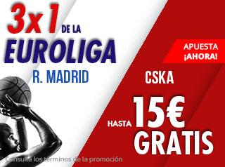 suertia promocion euroliga Real Madrid vs CSKA 29 noviembre