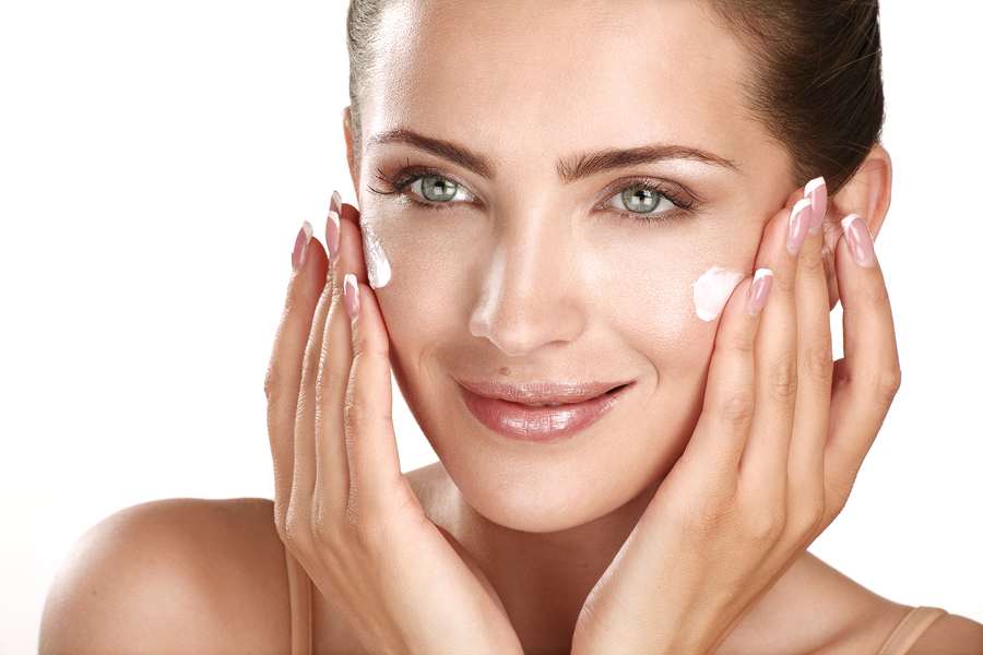 Image result for applying night cream
