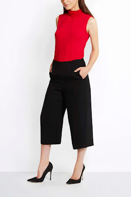 Wallis Black Culottes