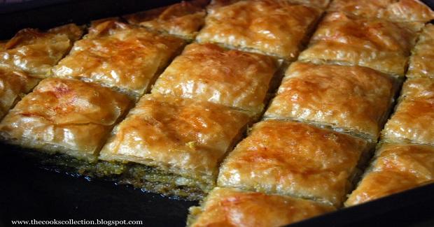 Pistachio, Lemon And Honey Baklava Recipe