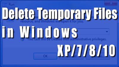 Menghapus File Temporary  Windows 7/8/8.1/10