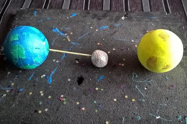 spiegare eclissi bambini