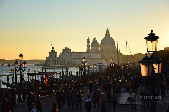 Zachód słońca na Canal Grande w Wenecji