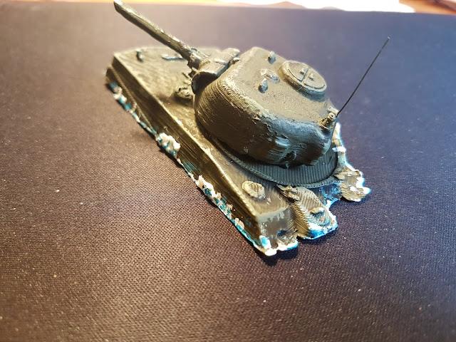 Sherman on Tarawa