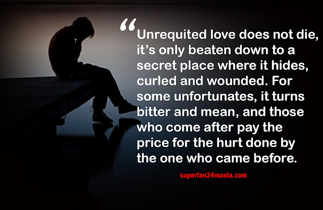 Unrequited love does not die, it's only beaten down to a secret place where it hides, curled and wounded. For some unfortunates, it turns bitter and mean, and those who come after pay the price for the hurt done by the one who came before.