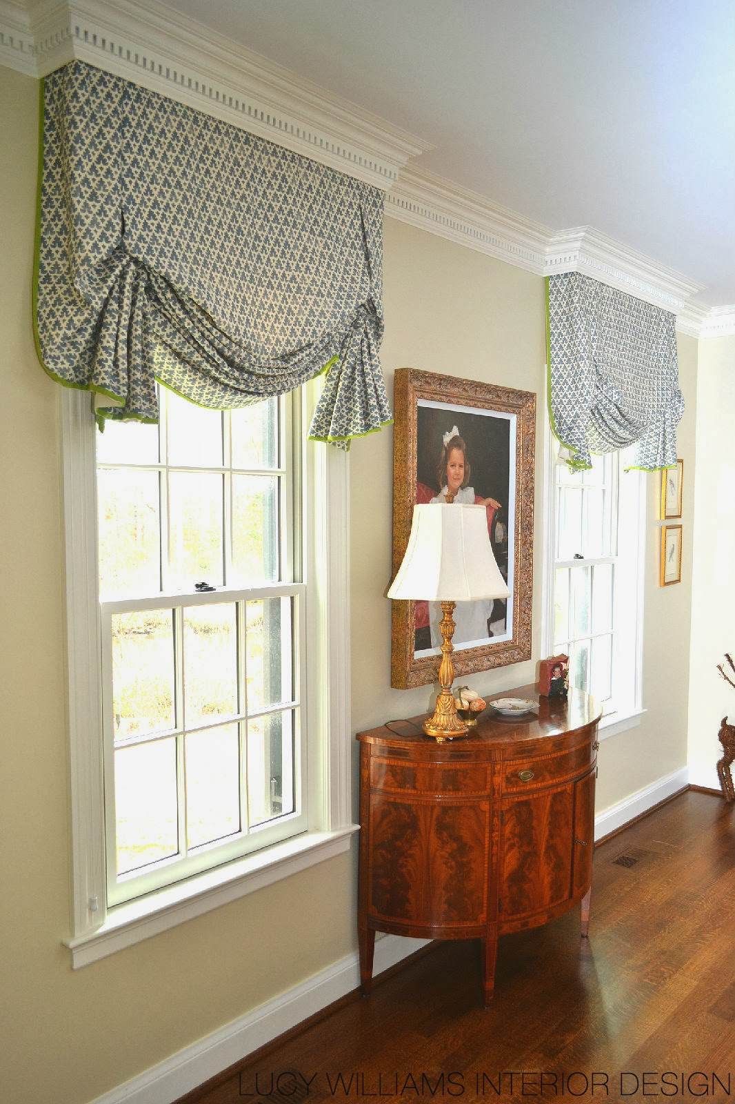 Lucy williams interior design blog before and after - Living room picture window treatments ...