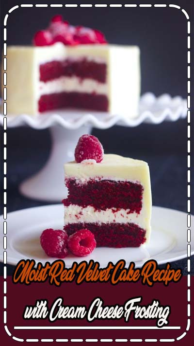 Vegetarian · This Red Velvet cake with cream cheese frosting is very moist because it uses both butter and oil. Cream cheese frosting makes this even more irresistible.