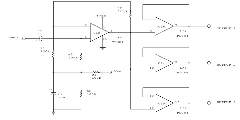 Loadedcircuit Com  Audio Distribution Amplifier