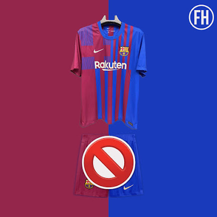 Half And Half Fc Barcelona 21 22 Home Kit Shorts Banned By Uefa Footy Headlines