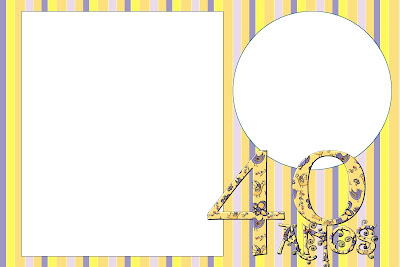 40 Anos Feminino Kit Completo Com Molduras Para Convites