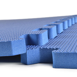 Greatmats blue foam floor tiles 5/8 basement flooring