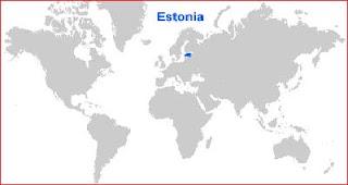 Gambar Peta letak Estonia