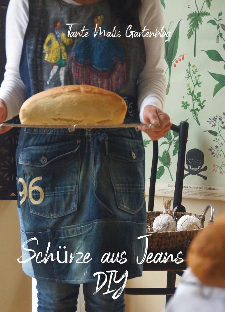 Schürze aus Jeans selber nähen