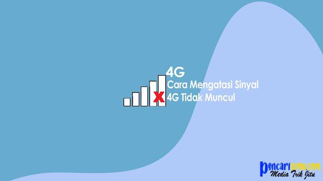 Cara Mudah Mengatasi Sinyal 4G Tidak Muncul