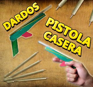 Mini Pistola de Dardos Casera