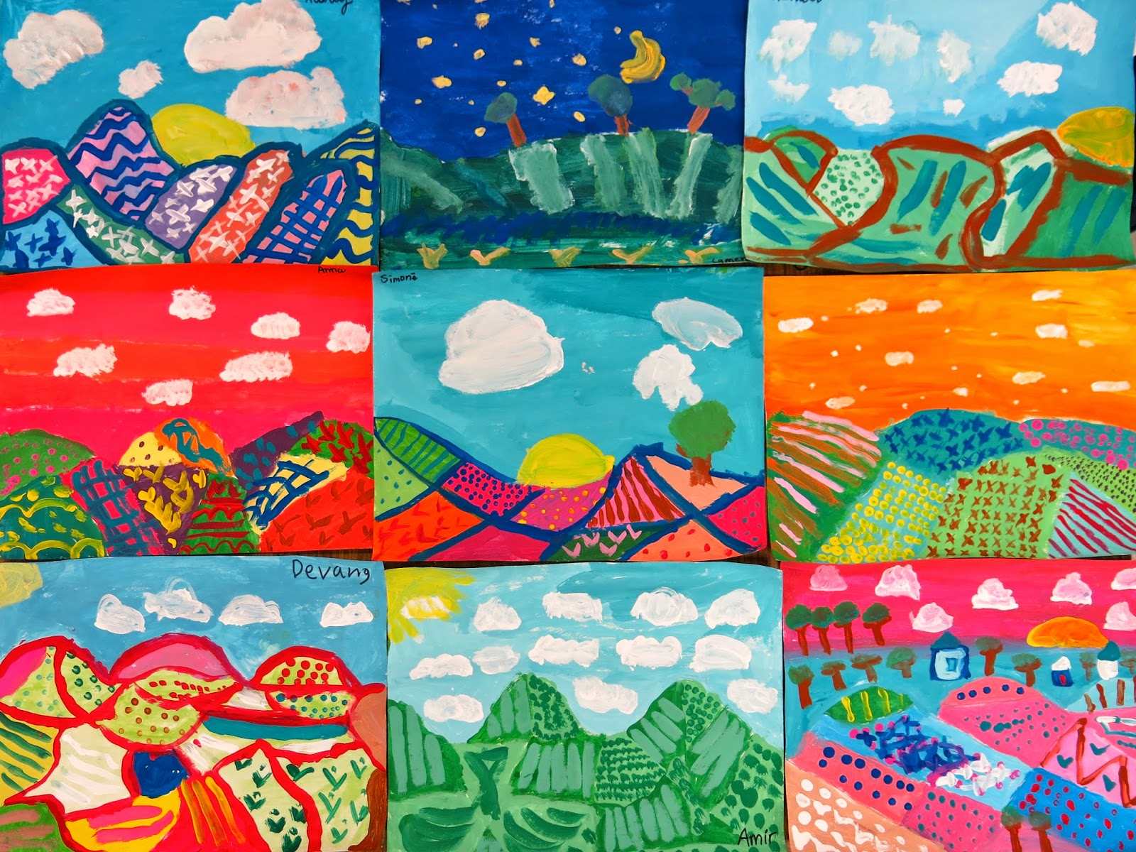 Cassie Stephens In The Art Room My Fave Landscape Lessons