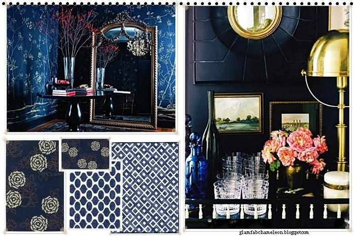 dark blue navy walls in home decor