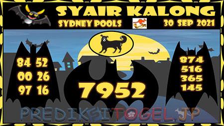 Syair Kalong Sidney Kamis 30 September 2021