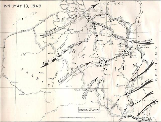 Η άμυνα του Βελγίου, η κίνηση των Γαλλο-βρετανικών δυνάμεων και οι γερμανικές επιθέσεις