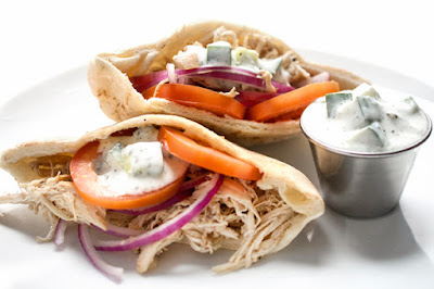 Slow Cooker Chicken Shawarma Pitas Recipe