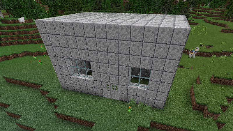 Build the bomb house with an explosive roof and false walls