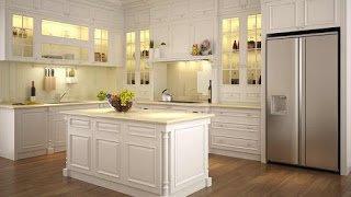 Tủ bếp gỗ Sồi Nga HP5  hiện đại