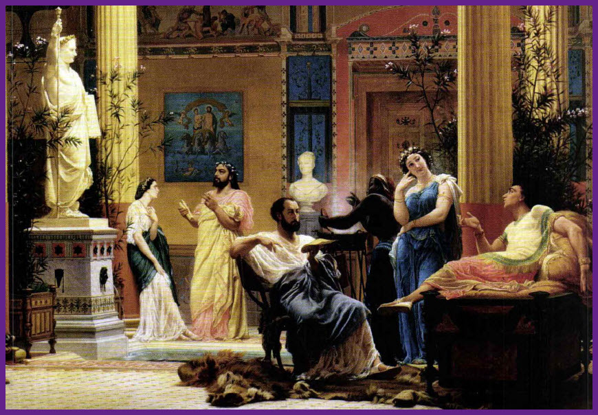 2a809443aba Dal saluto mattutino) agli affari da sbrigare nel Foro, fino alla cena  serale: la vita dei ricchi Romani era scandita da occupaziord e incombenze  ...