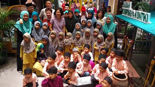 Buffet Ramadhan - The Federal KL Meraikan anak-anak Rumah Nur Kasih Bestari di Restoran Kontiki.
