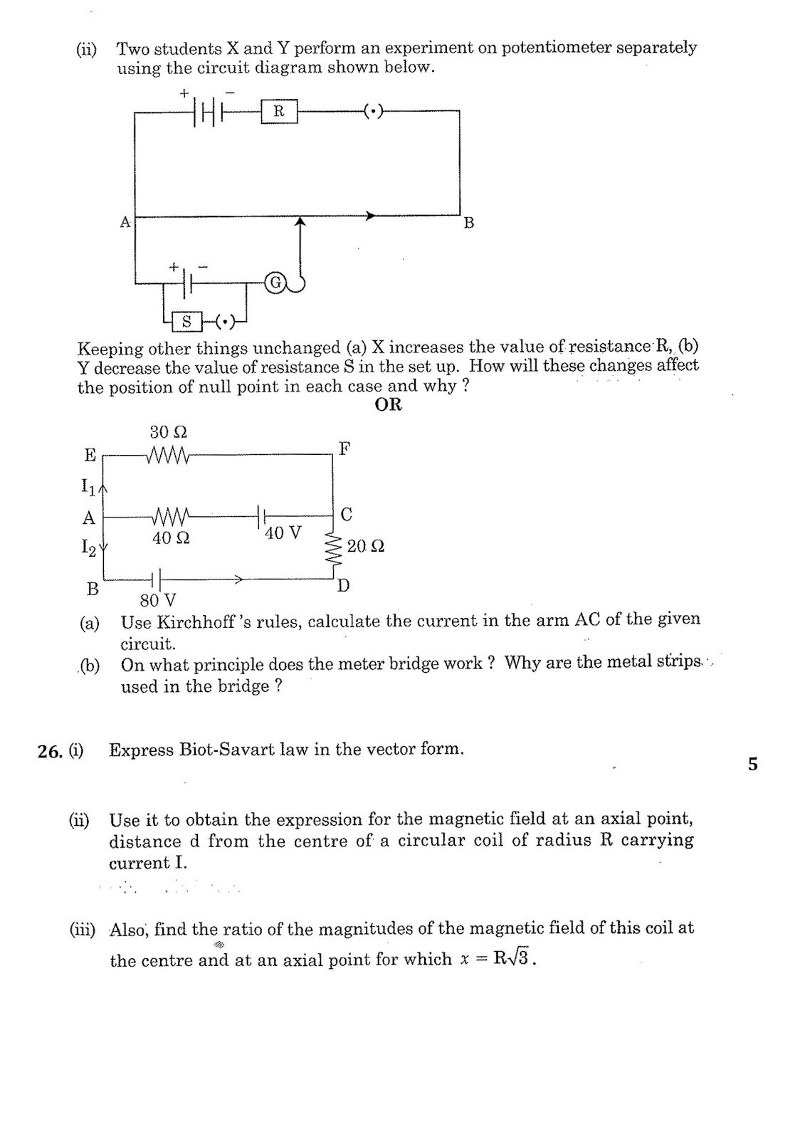 Chalapathiphysics4you Cbse Physics Question Paper 2016 Circuit Diagram Rules Posted By At 0709