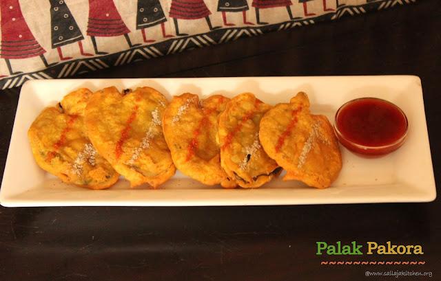 images of Palak Pakora / Palak Pakoda / Palak Bajji / Spinach Bajji / Spinach Pakoda / Palak Ke Pakode / Spinach Fritters
