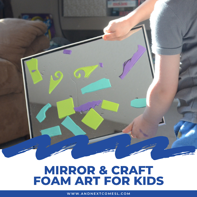 Mirror and craft for art for kids