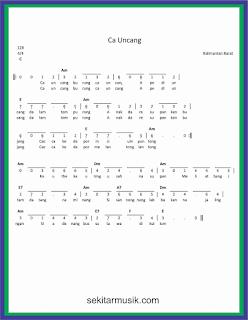 not angka ca uncang lagu daerah kalimantan barat