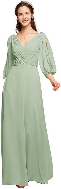 Good Quality Green Chiffon Bridesmaid Dresses