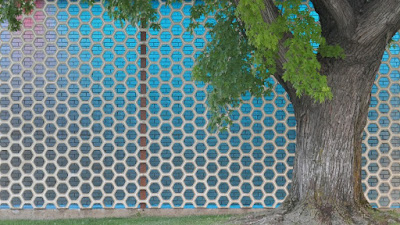 Medicine Hat, Alberta, library, lighting, honeycomb, tiles, maple